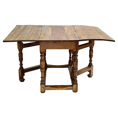 Spanish Harvest Folding Gateleg Table