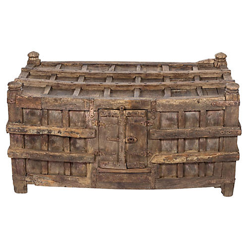 18th-C. Primitive Oversize Tribal Chest