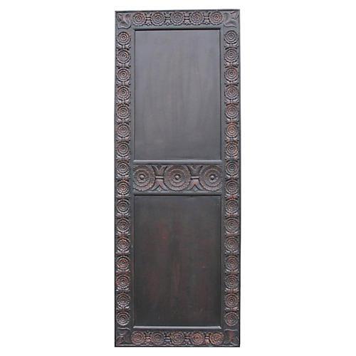 Lotus Flower Carved Door