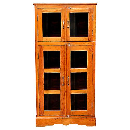 British Colonial Teak Bookcase