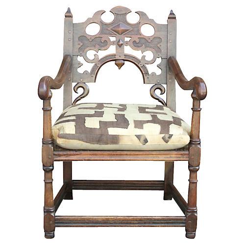 English Jacobean Kuba Chair