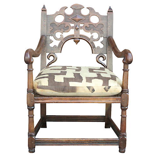 English Jacobean Kuba Chair
