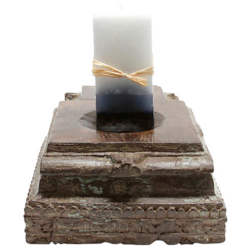 Turquoise Architectural Candleholder