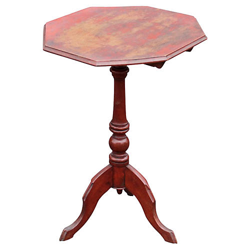 Antique Painted Tripod Table