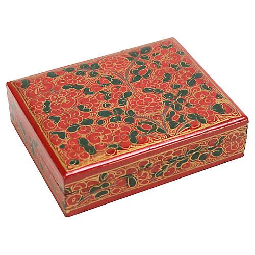 Gulab Painted Kashmiri Box