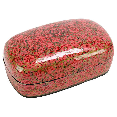 Rose Kashmiri Hand-Painted Box