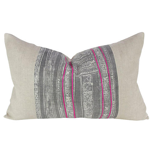 Ash Lumbar Batik Pillow