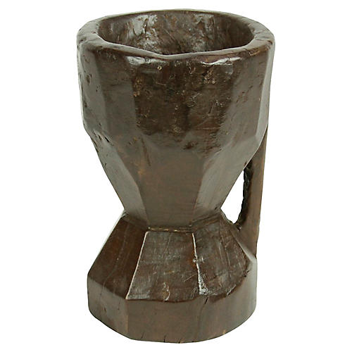 Naga Kharal Teak Grinder Pot