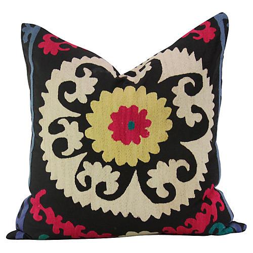 Ebony Suzani Pillow