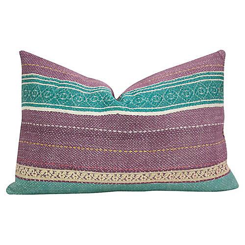 Oorja Bengal Kantha Lumbar Pillow