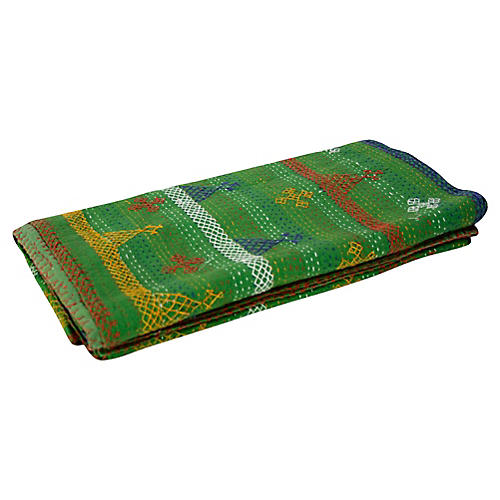 Aari Verde Tribal Coverlet