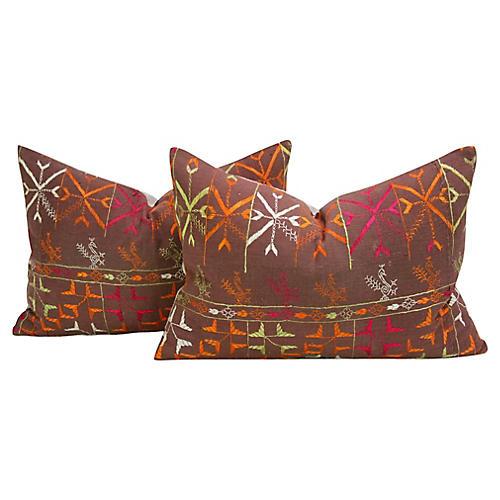 Rawal Phulkari Pillows, Pair