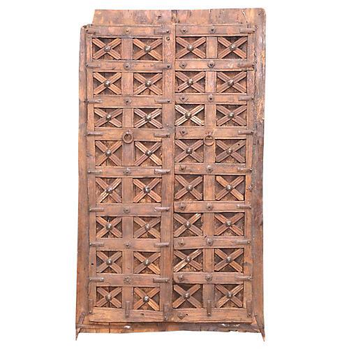 19th-Century Moorish Carved Door