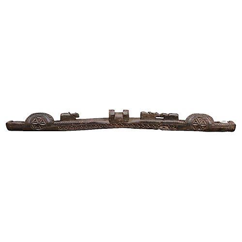 Antique Naga Carved Tribal Yoke