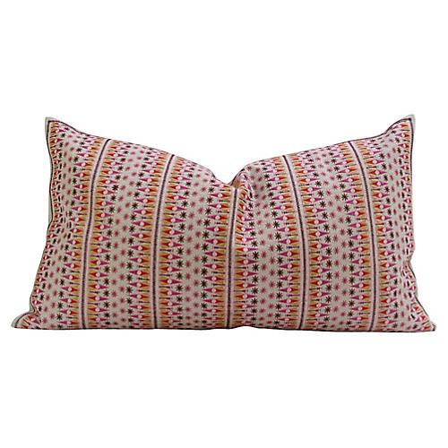 Striped Swati Tribal Multicolor Pillow