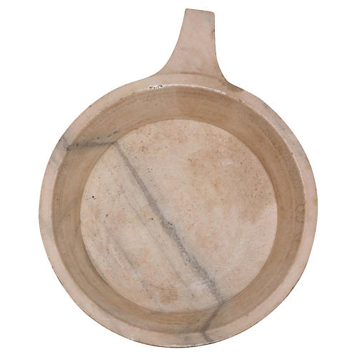 Carved Stone Dough Bowl