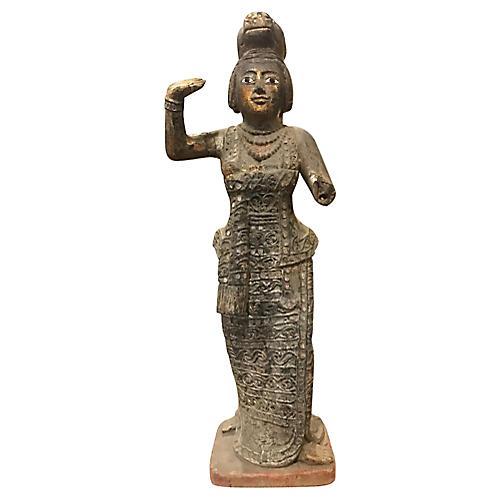 Antique Thai Carved Statue