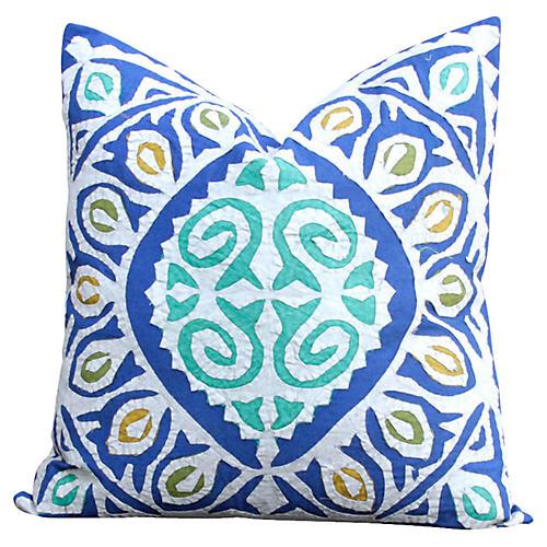 Blue Jogi Rali Pillow