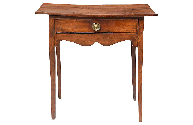 Mid 19th-C. English Oak Side Table