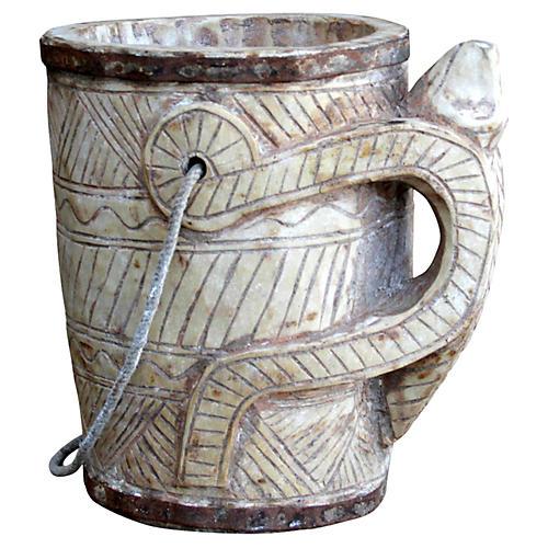 Bleached Wood Naga Bucket