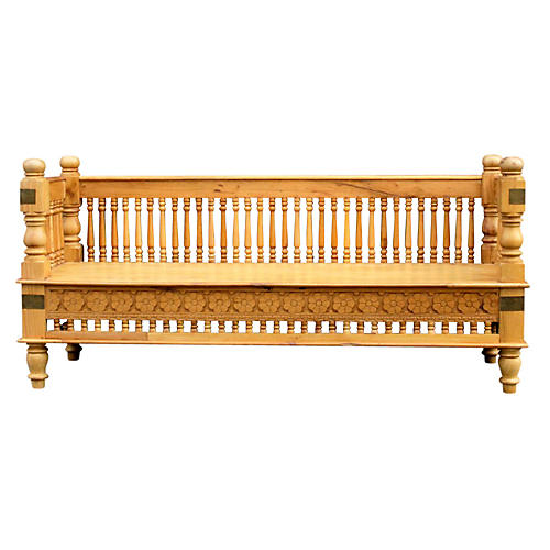 Anglo-Indian Spindle Bench