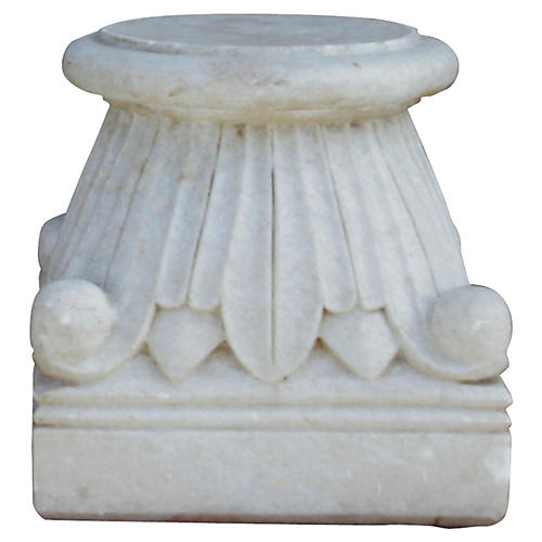 Carved Architectural Marble Base