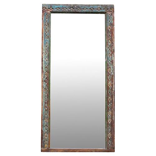 Early-20th-C. Aqua Mirror