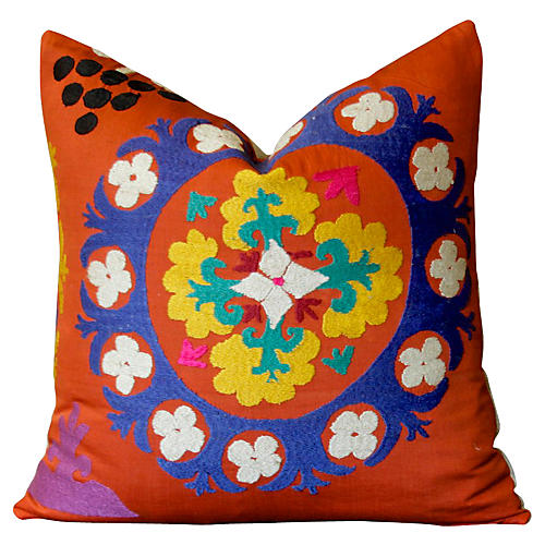 Chamelee Antique Suzani Pillow