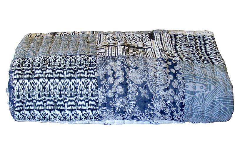 Indigo Block-Print Quilt