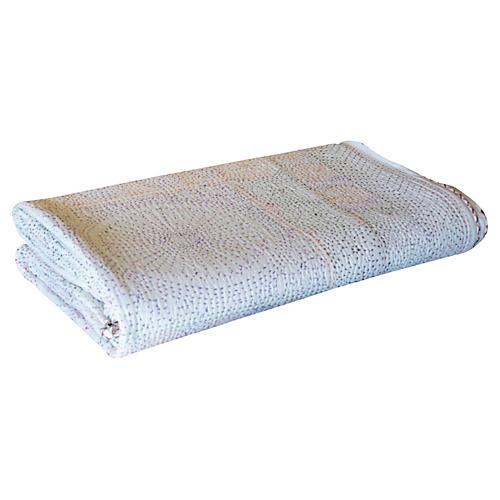 White Filanan Gudari Bed Cover
