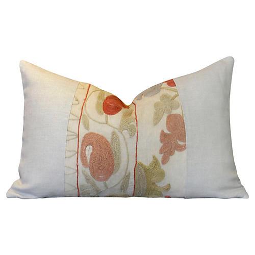 Antique Suzani Lumbar Pillow