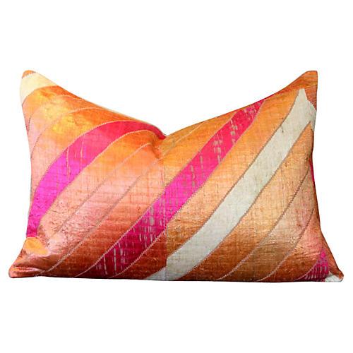 Sahar Phulkari Lumbar Pillow
