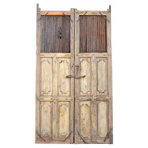 19th C. Spanish Colonial Bleached Doors
