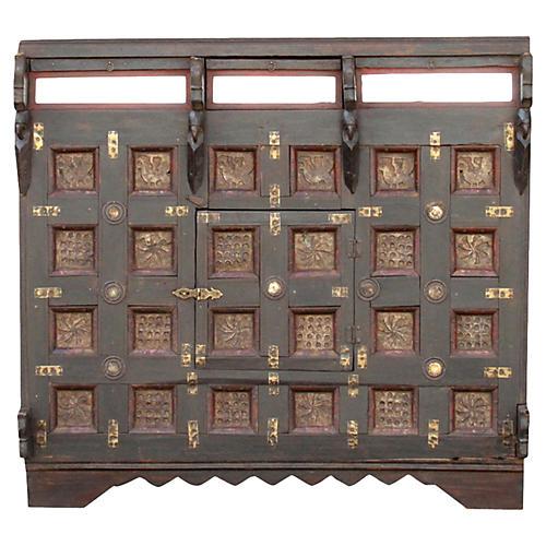 Antique Brass Paneled Damachiya