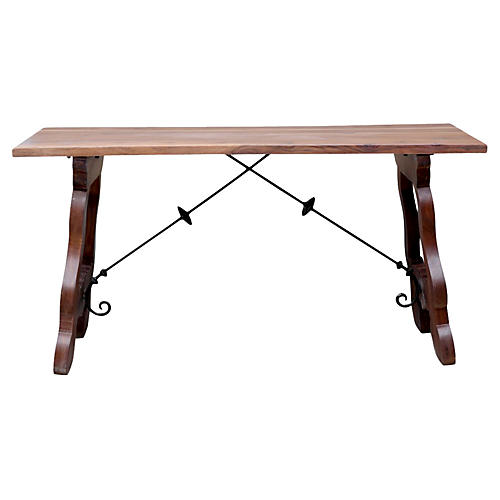 Spanish Colonial Writing Console Table