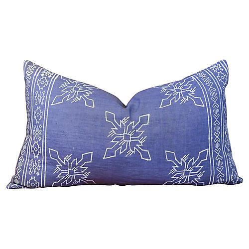 Itzcali Aztec Block Print Lumbar Pillow