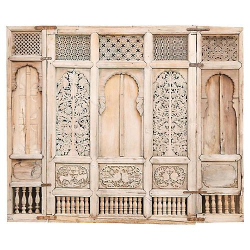 Rare 18th C.Window Facad