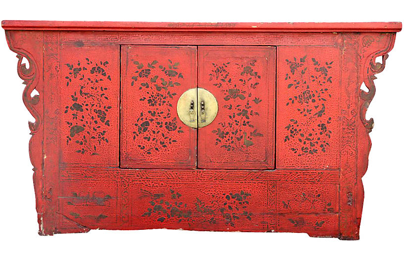 Antique Chinoiserie Lacquer Cabinet