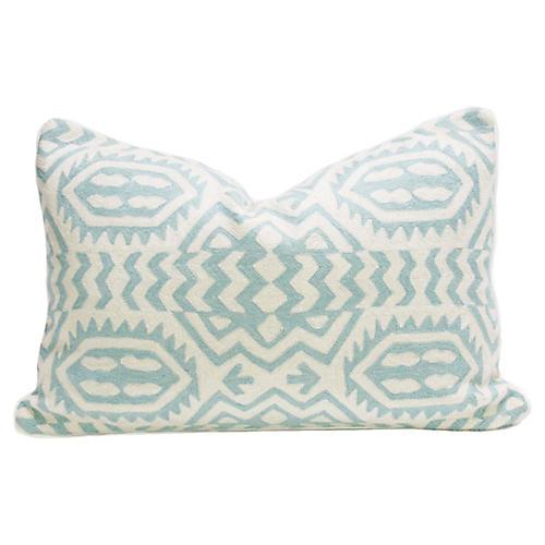 Turquoise Kashmiri Native Pillow