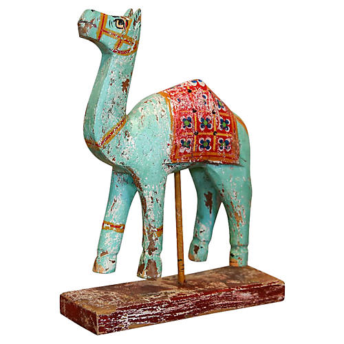 Mint Green Wood Camel