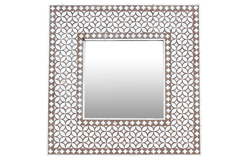 Charming Mother of Pearl Inlaid Mirror