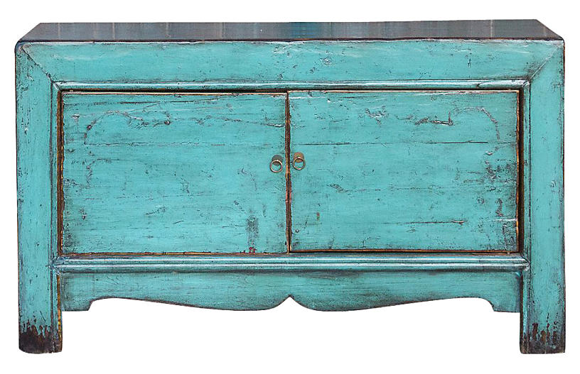 Turquoise Shanxi Cabinet