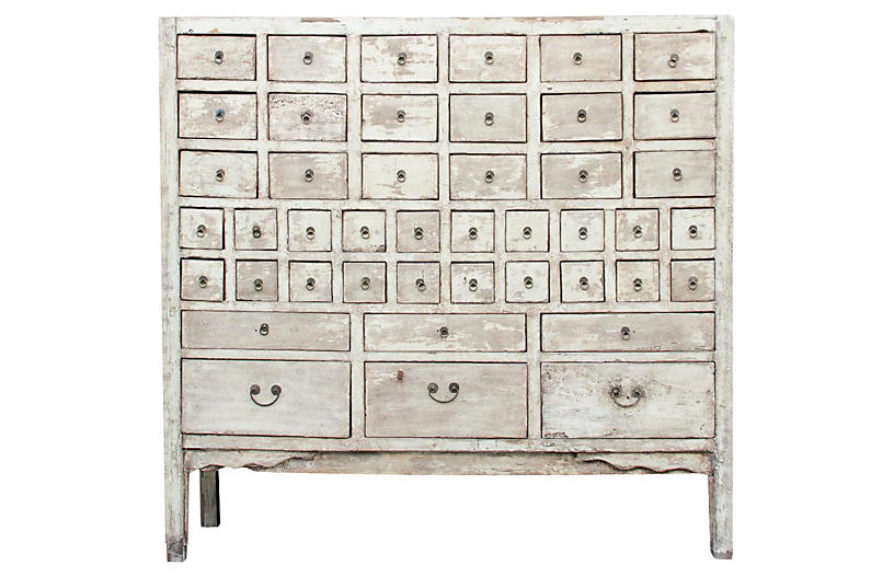 Antique Asian Apothecary Cabinet
