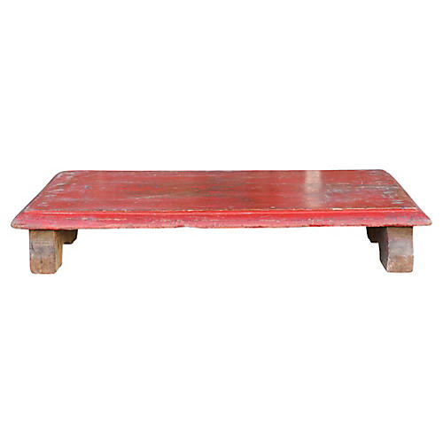 Roja Painted Wooden Bajot