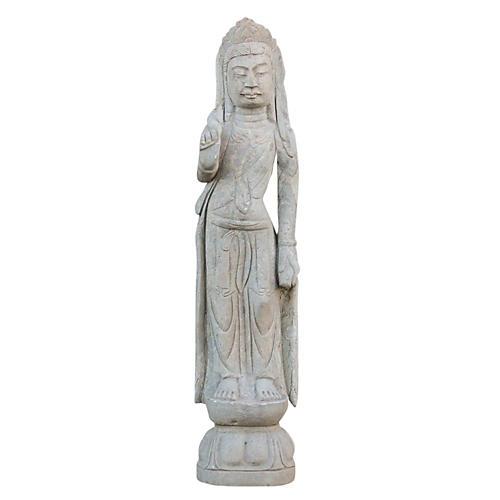 Bodhisattva Stone Quan Yin Statue