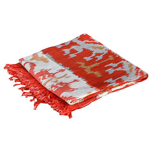 Ebru Ikat Throw