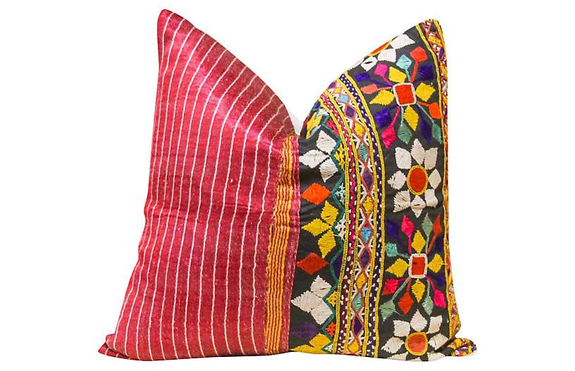 Soni Antique Mashru Square Pillow