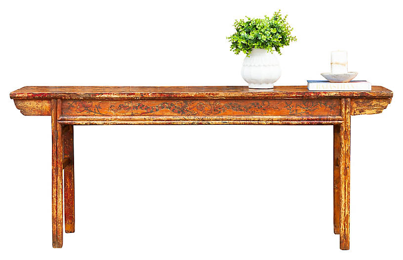 Mongolian Altar Console Table