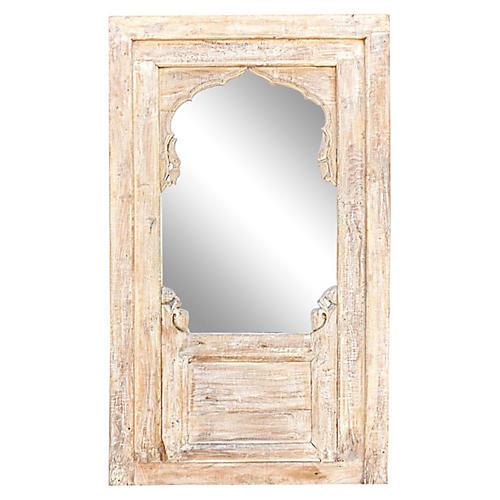 Chic Arched Whitewash Mirror