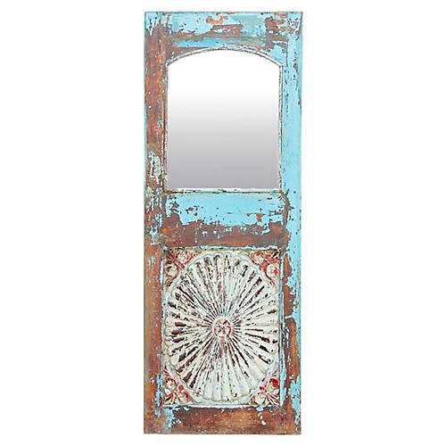Stunningly Rustic Sunburst Azul Mirror